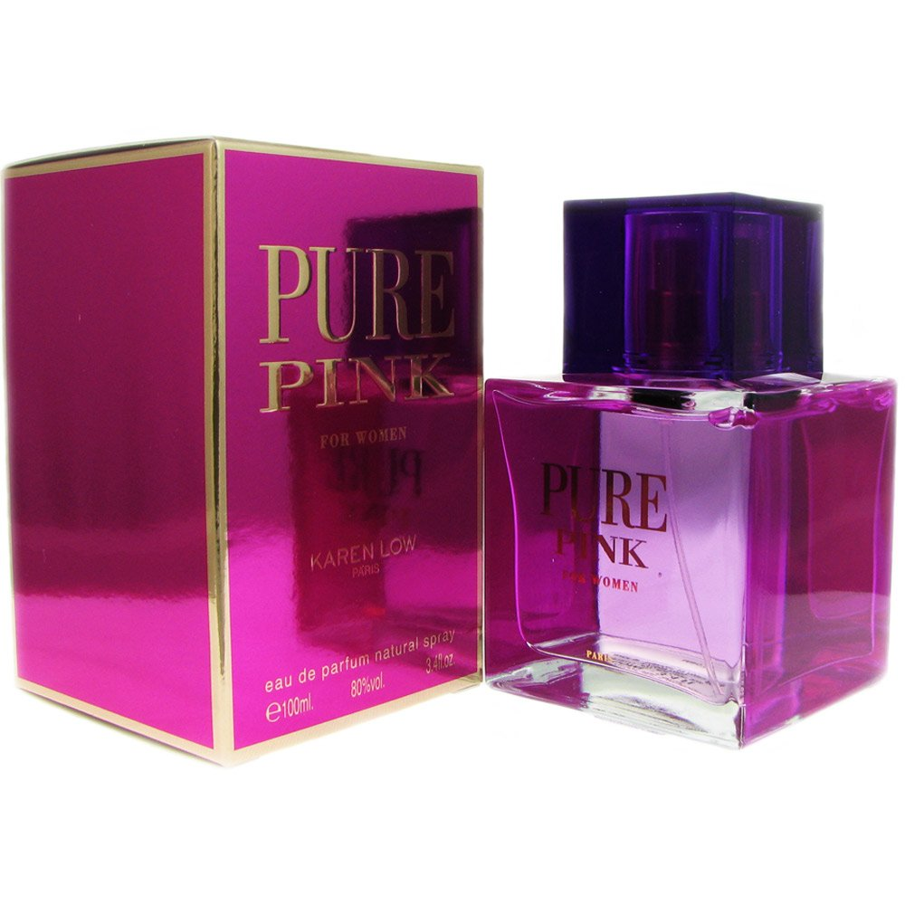 Karen Low Pure Pink Eau de Parfum Spray for Women, 3.4 Ounce