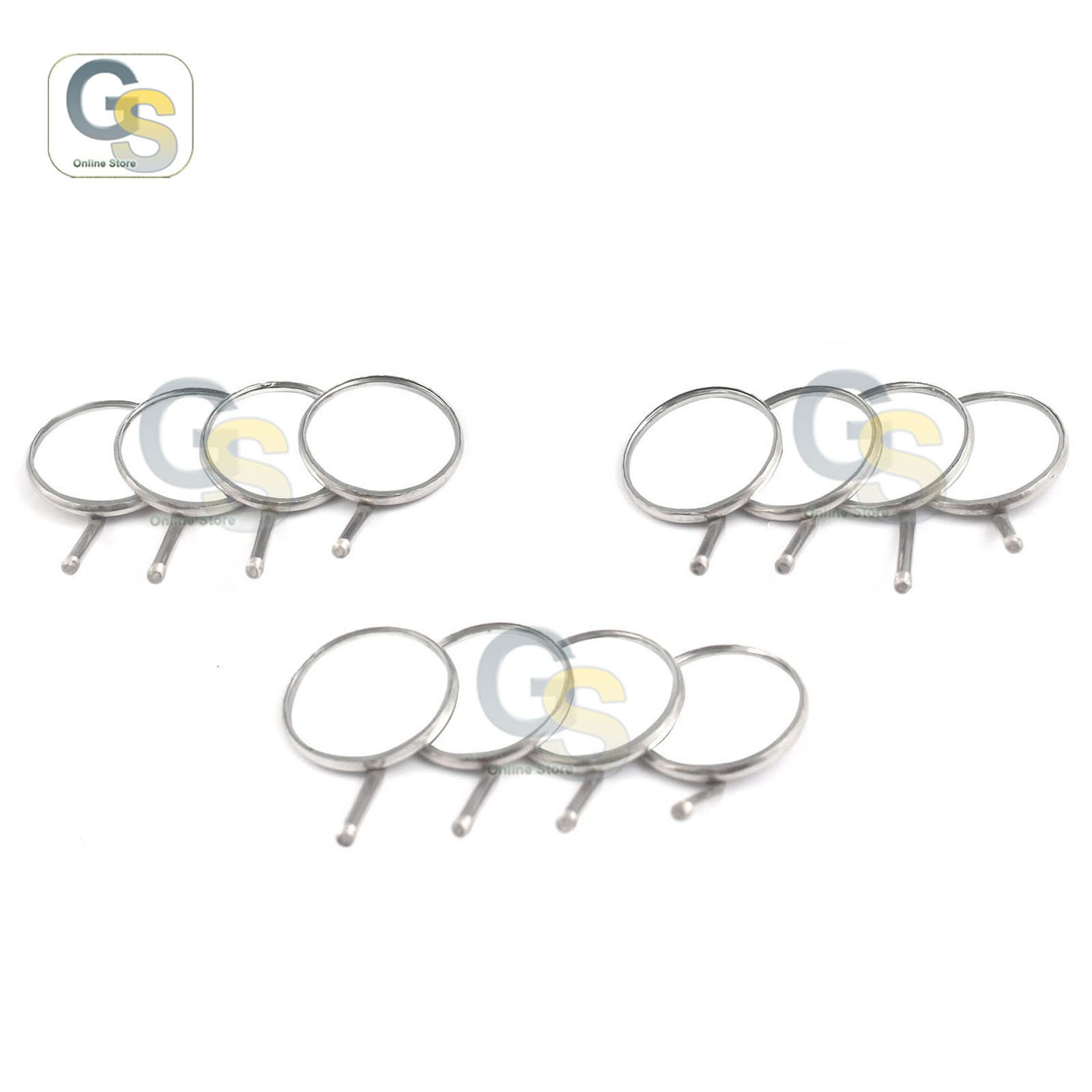 G.S Dental Mouth Mirror #5, Simple Stem (Pack of 12) Best Quality