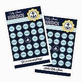 1 set of 16 Nautical Baby Shower Bingo