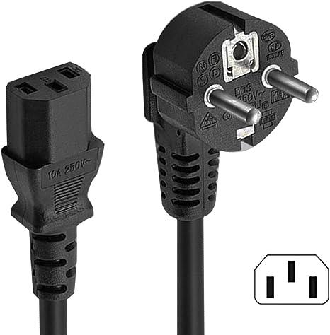 Tomacorriente de 5M EUR a Cable de alimentación CEE 7/7 SCHUKO-IEC ...