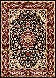 Well Woven Barclay Medallion Kashan Black Traditional Area Rug 7'10'' X 9'10''