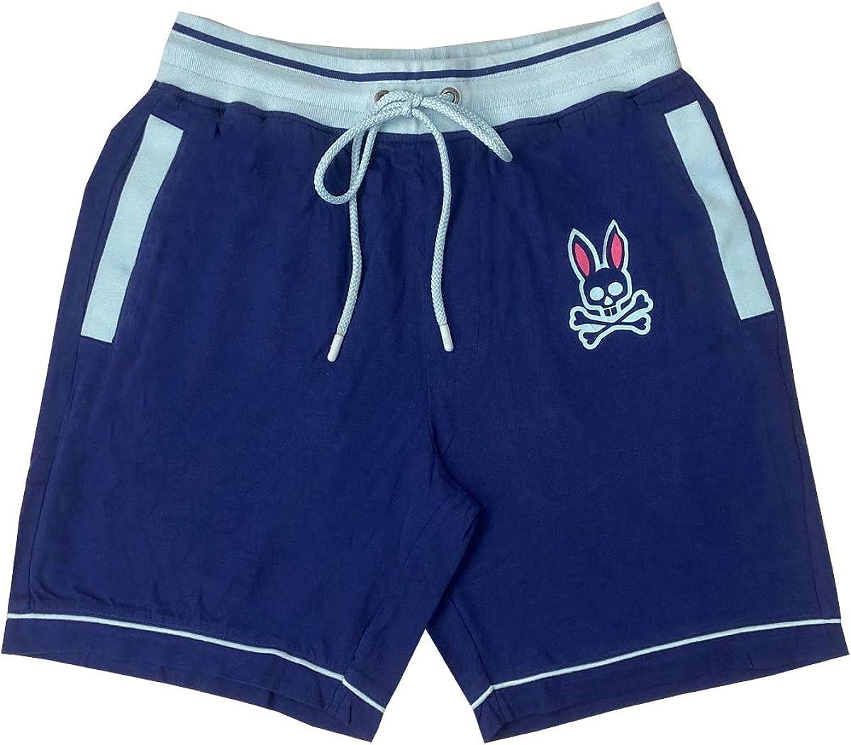 Psycho Bunny Men's Colorblock Sweatpant Lounge Shorts
