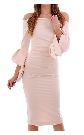 7799c7af7e Kevan Jon Ceiba Bardot Knee Pale Pink 1  Amazon.co.uk  Clothing