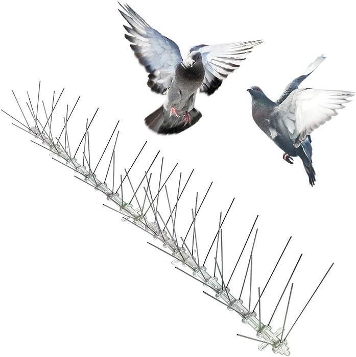 Bird-X Stainless Steel Bird Spikes, Covers 100 feet