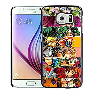 Popular Samsung Galaxy S6 Case ,Unique And Lovely Designed With JoJo Bizarre Adventure 1 Black Samsung Galaxy S6 High Quality Cover