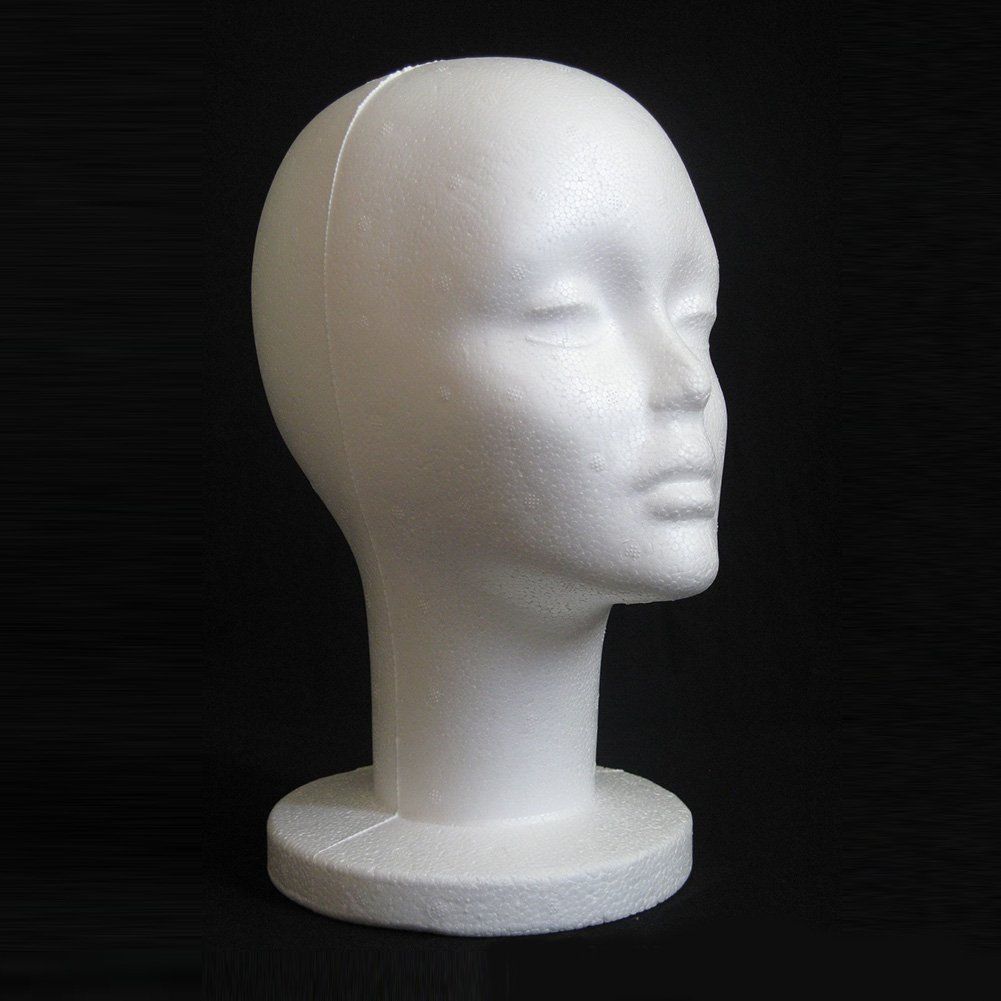 Male Mannequin Styrofoam Foam Manikin Head Model Wig Glasses Hat Display Stand DAEDALUS