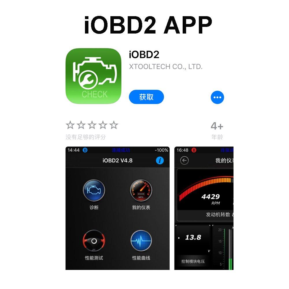 Xtool - Mini escáner de análisis de diagnóstico para coche iOBD2 con ...