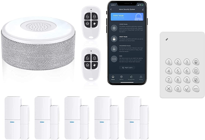 Home Alarm System 8 Pieces-Kit Bundle with Keypad