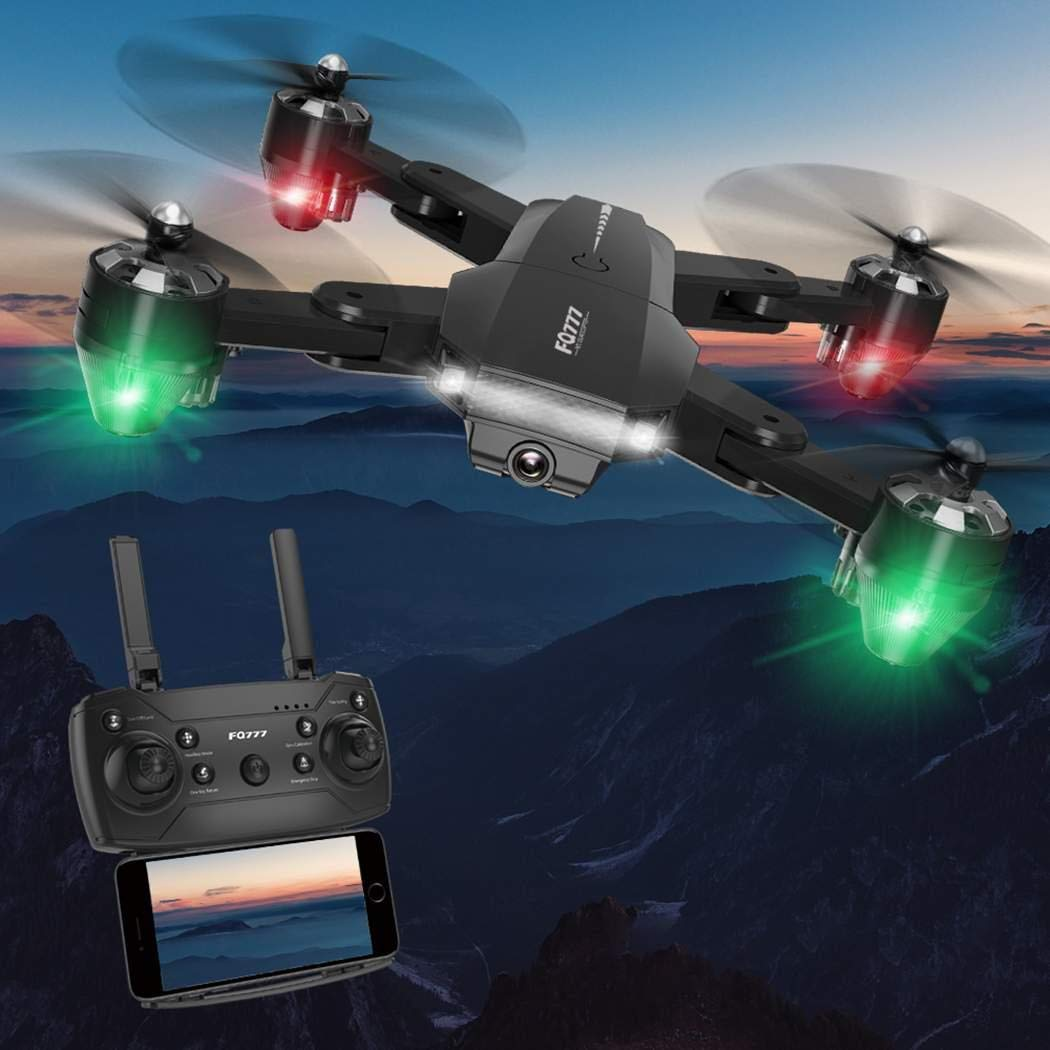 Bluefringe FPV RC Drone with HD Camera Live Video Wide-Angle WiFi Quadcopter with Altitude Hold Headless Mode 3D Flips RTF with Modular Battery One Key Take Off//Landing