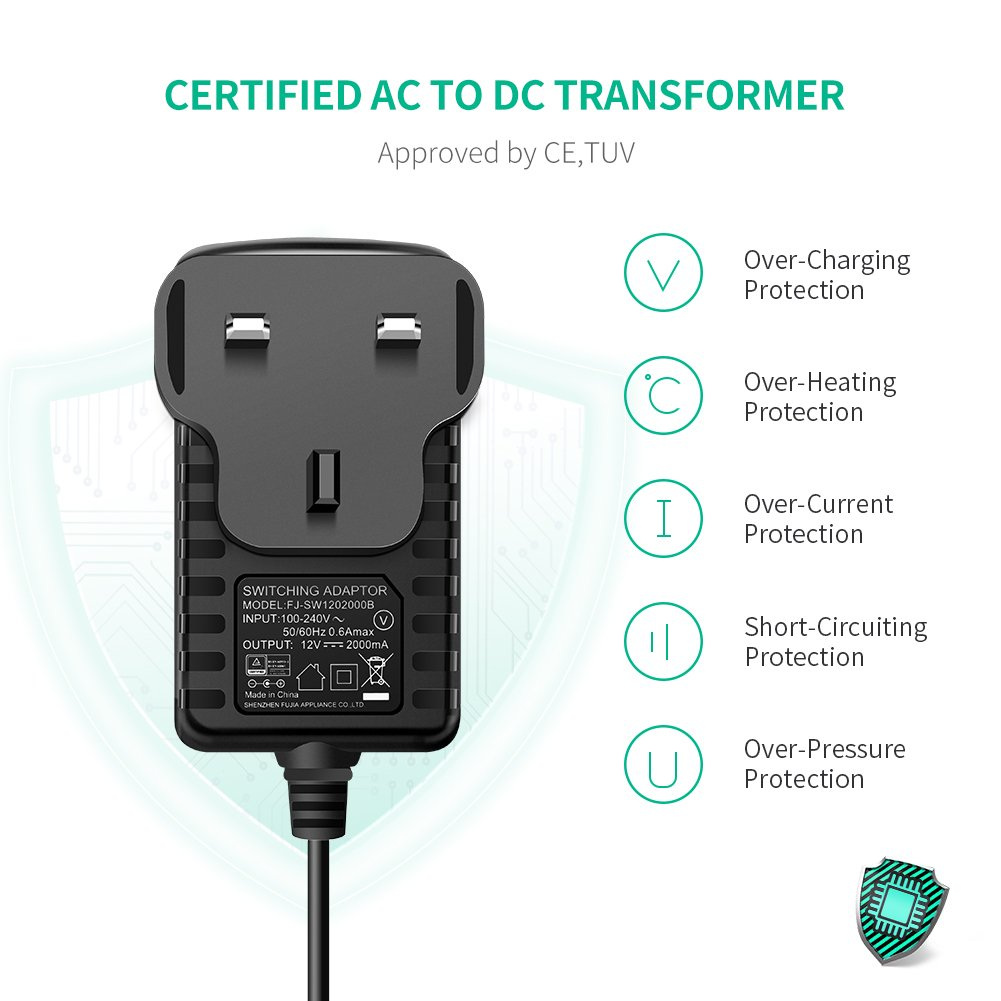 Ugreen Dc Power Supply 12v 2a Ac 100 240v To Adaptor Switching Electronics