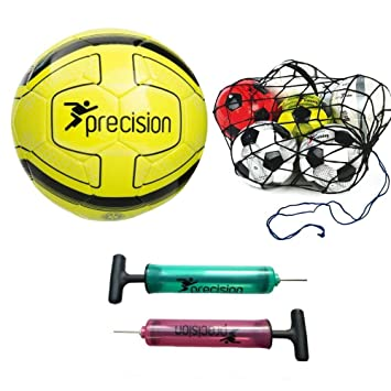 4f0800db9 Precision Santos Training Ball Fluo Yellow/Black Size 4+ Football football  net+ Pink hand pump: Amazon.co.uk: Sports & Outdoors