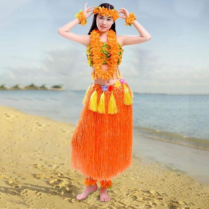 Seasaleshop Traje Fiesta Hawaiana Disfraces Falda Hula Diadema de ...