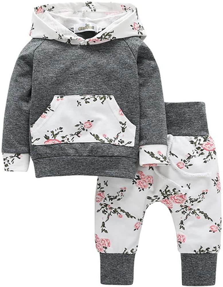 Kinder Kleinkind Baby Kleidung Set Floral Hoodie Tops Hose Outfits Dragon Baby Kleidung Set