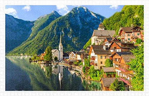 Pintoo - H1785 - Lakeside Village of Hallstatt, Austria - 1000 Piece Plastic Puzzle (Lakeside Village)