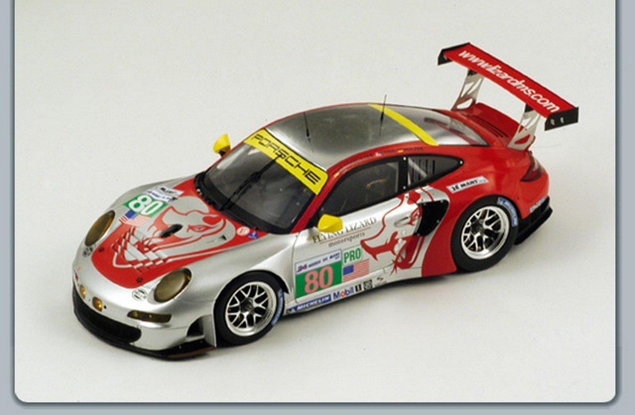 Spark Model S18074 Porsche 997 RSR N80 49th LM 2012 BERGMEISTER-Holzer-Long 1:18
