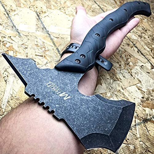 15 Stonewash Combat Tomahawk Throwing Axe Battle Hatchet Hunting Tactical
