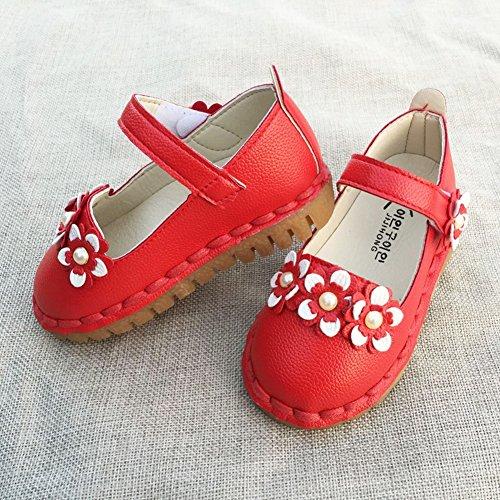 Flache Kleinkind Sohle Schuhe Weiche Rot Vokamara Mary Jane Gummi Schuhe q0xaUUwP