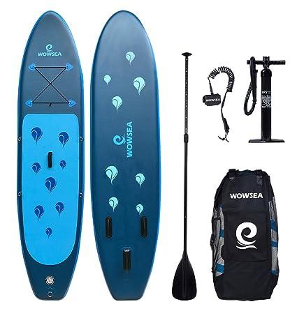 WOWSEA Tabla Hinchable Paddle Surf, Paddle Board Hinchable con Tamaño de 305 x 81 x