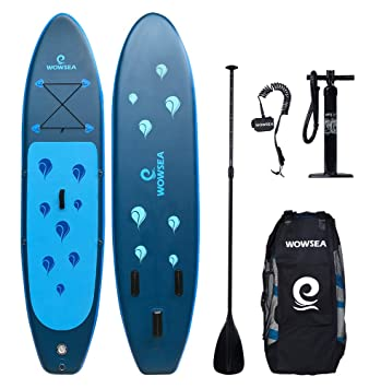 WOWSEA Tabla Hinchable Paddle Surf, Paddle Board Hinchable con Tamaño de 305 x 81 x 15cm, Carga hasta130kg: Amazon.es: Hogar