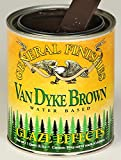 General Finishes Water Based Glaze Effects Van Dyke Brown Quart