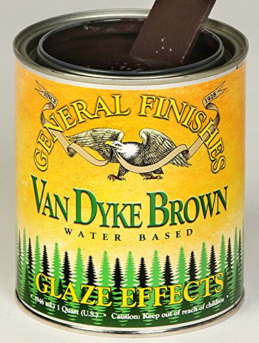 General Finishes Water Based Glaze Effects, 1 Quart, Van Dyke Brown from General Finishes