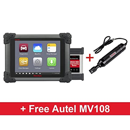 Autel Maxisys MS908P Diagnostic Scanner ECU Coding / J2534 Reprogramming  with MaxiVideo MV108 Digital Inspection Camera