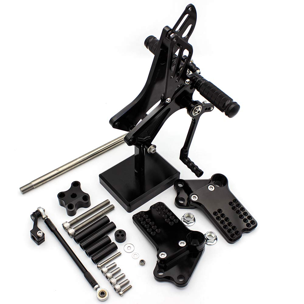 FXCNC Racing CNC Billet Motorcycle Adjustable Rearsets Foot Pegs Rear Set Fit For KTM Duke 125 200 390 2011-2017, RC250 RC390