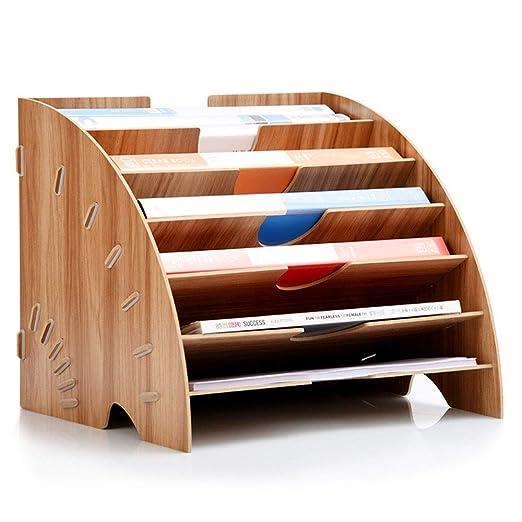 SHIJIAN Estante de almacenamiento de madera, caja de ...