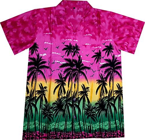 "Hawaiihemdnet Hawaiihemd/Hawaii Hemd ""Hawaiian Paradise (Pink)"
