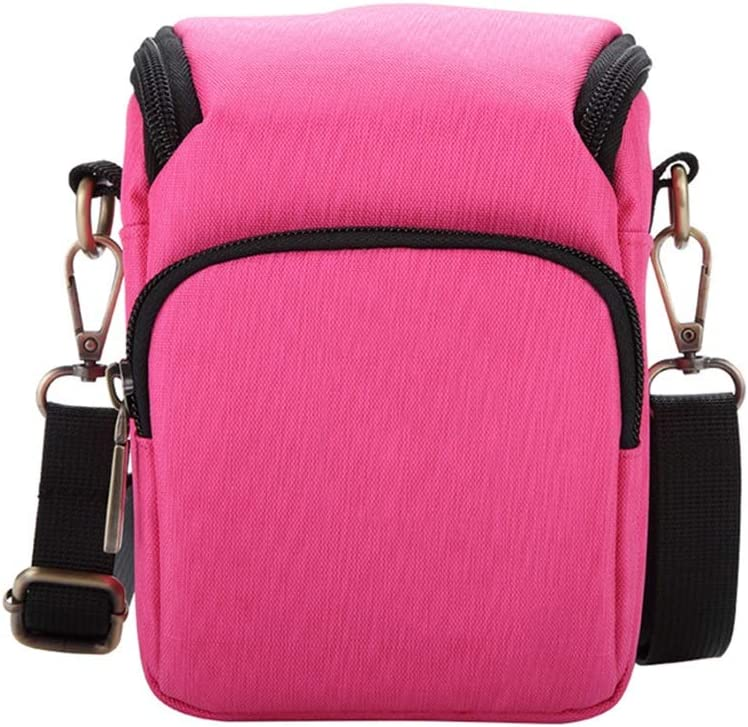 Nuanxingjiafang New Micro Single Camera Bag SLR Shoulder Mobile Camera Bag Nylon Material Digital Accessories Storage Bag Outdoor Leisure Bag Size 9 12.515.5cm Pink Package Well-Made