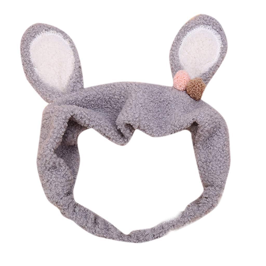 Goldweather Women Cartoon Rabbit Ear Hairband Elastic Hair Ornaments Lovely Headband Hair Accessories (Gray) by Goldweather (Image #1)