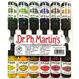 Dr. Ph. Martin's Spectralite Private Collection Liquid Acrylics Bottles, 0.5 oz, Set of 12 (Set 2)