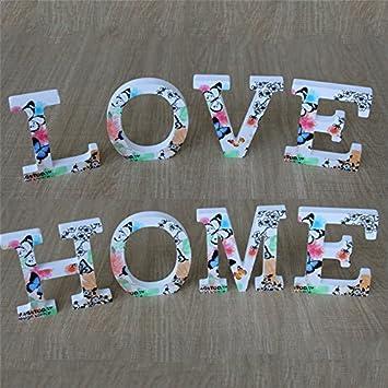 para poner nombres de beb/é o ni/ño en la pared Letras decorativas de madera para colgar en la pared Takefuns Decoraci/ón las 26 letras del alfabeto en madera