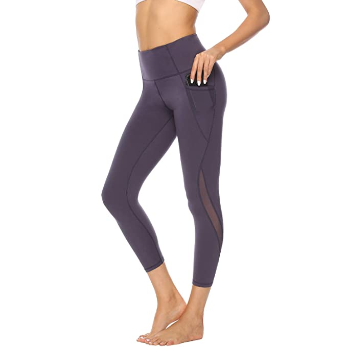 0ab52c2eeb495d Workout Leggings for Women High Waisted Yoga Pants Fitness Clothes for  Running Athletic Mesh Tummy Control