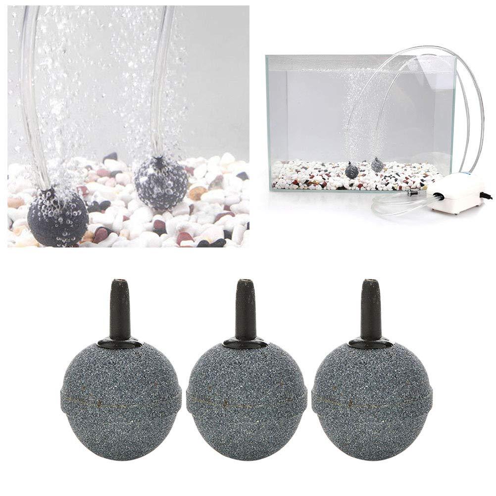 Balacoo Aquarium Air Stone Bubbler Fish Tank Hydroponics Pump Round Air Stones Oxygen Diffuser Bubbles for Fish Tank 10Pcs Set