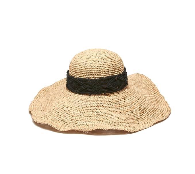 138d39c68 Physician Endorsed Women's Magnolia Crochet Raffia Hat with Macrame ...