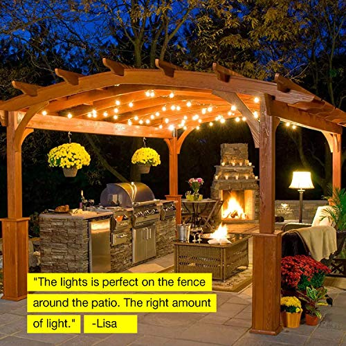 Brightech Ambience Pro -Waterproof Solar LED Outdoor String Lights - Hanging 1.5W Vintage Edison Bulbs 27 Ft Commercial Grade Patio Lights Create Bistro Ambience In Your Backyard, On Your Porch by Brightech (Image #7)