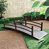 Coral Coast Harrison 8-ft. Wood Garden Bridge - Dark Stain