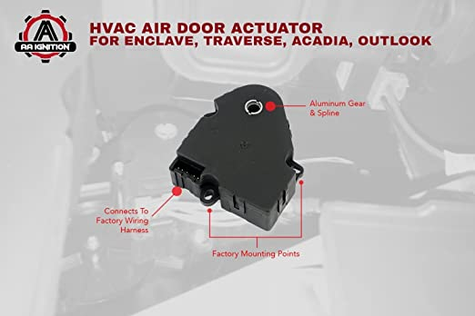 Amazoncom Hvac Air Door Actuator Replaces 1573989 604140 20826182 Fits Chevy Traverse 2009 2010 2011 2012 GMC Acadia 20072012: 2011 Buick Enclave Wiring Diagram Hvac At Hrqsolutions.co