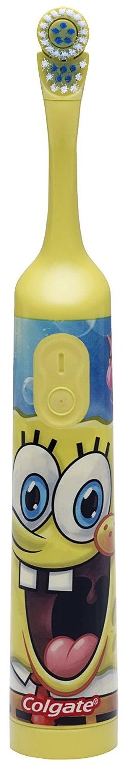 Colgate Nickelodeon SpongeBob SquarePants Extra Soft Powered Toothbrush, 1 CT (Pack of 3)