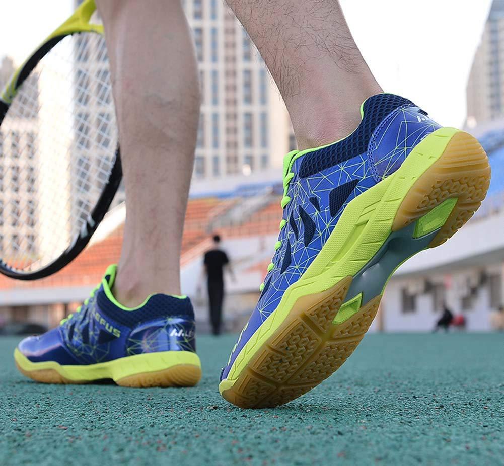 GLSHI Hombres Respirable Bádminton Zapatos Cuatro Cuatro Zapatos Estaciones Ligero Casual Deportes Entrenadores (Color : Azul Oscuro, tamaño : 40 EU) 053cf0