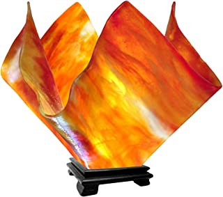 product image for Jezebel Signature Large Flame Zinnia Glass Vase Lamp