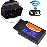 iKKEGOL WIFI Wireless OBD2 OBDII Car Auto Diagnostic Scanner Adapter for iPhone 6S/6 iPad iOS PC and Android