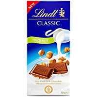 LINDT & SPRUNGLI Classic Milk Chocolate Hazelnut Block for Everyday Enjoyment When You Need a Little Moment of…