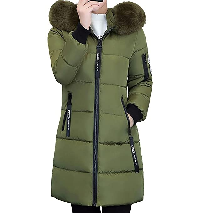 SHOBDW Mujer Invierno Chaqueta Caliente Abrigo Slim más Gruesa Abrigo Largo Parka Lammy Outwear M~3XL: Amazon.es: Ropa y accesorios