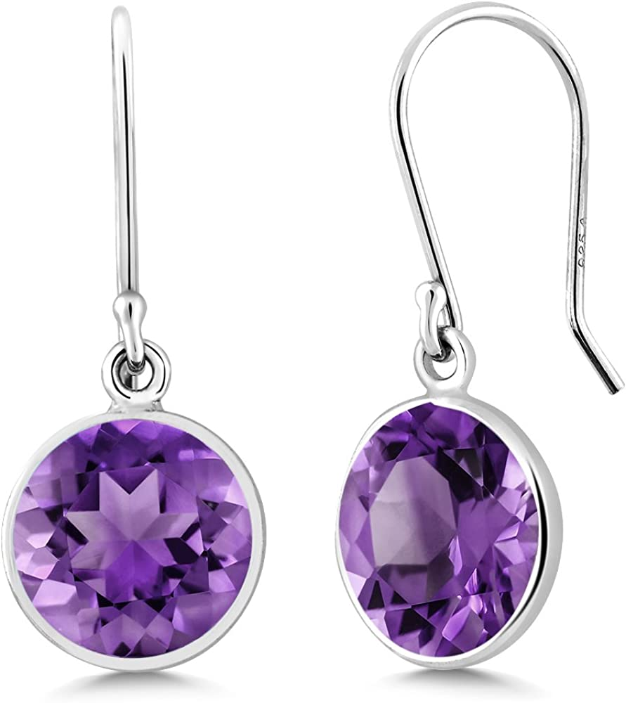 Lightweight Drop Earrings Mothers Day Gift Purple Pearl Earring Grey Pearls Evening Wear Free Shipping Amethyst Stone Silver Elegant