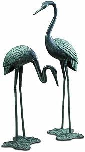 SPI Home 33242 Large Garden Crane Pair Sculpture