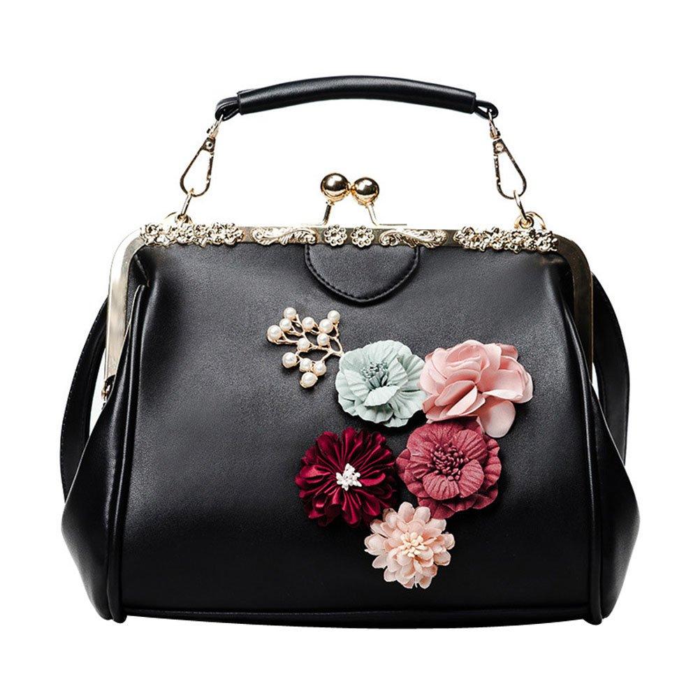 Donalworld Women Retro Hollow out PU Leather Handbag S Pt11