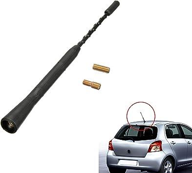 Antena universal de radio para coche, flexible, antirruido, de 22,86 cm, radio AM FM con tornillos M5 M6