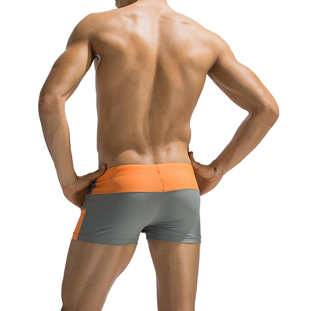eb31f700947 Dgasin Men s Swim Trunks Slim Wear Fitness Shorts Boxer Brief Swimwear  Tight Shorts larger image